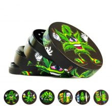 Metal Grinder Buds Family Mix Designs 4 Parts - 50mm (12pcs/display)