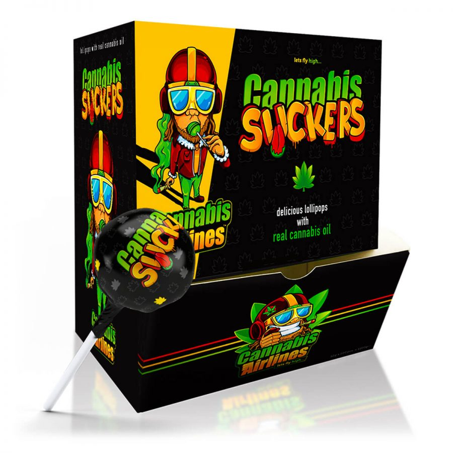 Cannabis Airlines Cannabis Suckers Lollipops THC Free (100pcs)