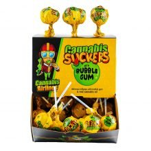 Cannabis Airlines Cannabis Suckers Lollipops with Bubble Gum THC Free (50pcs)