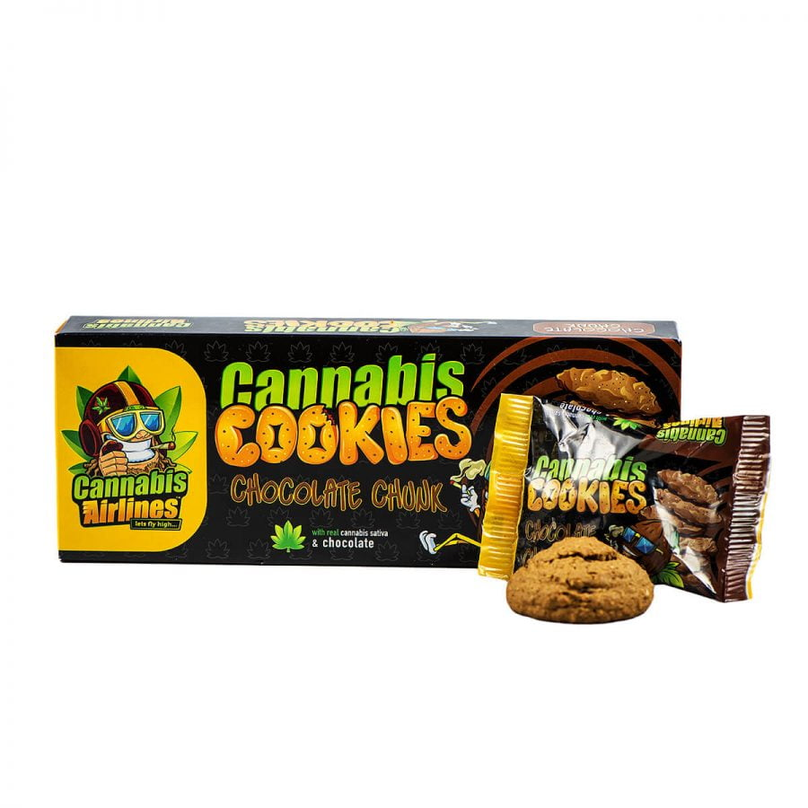 Cannabis Airlines Cannabis Cookies Chocolate Chunk THC Free (14x120g)