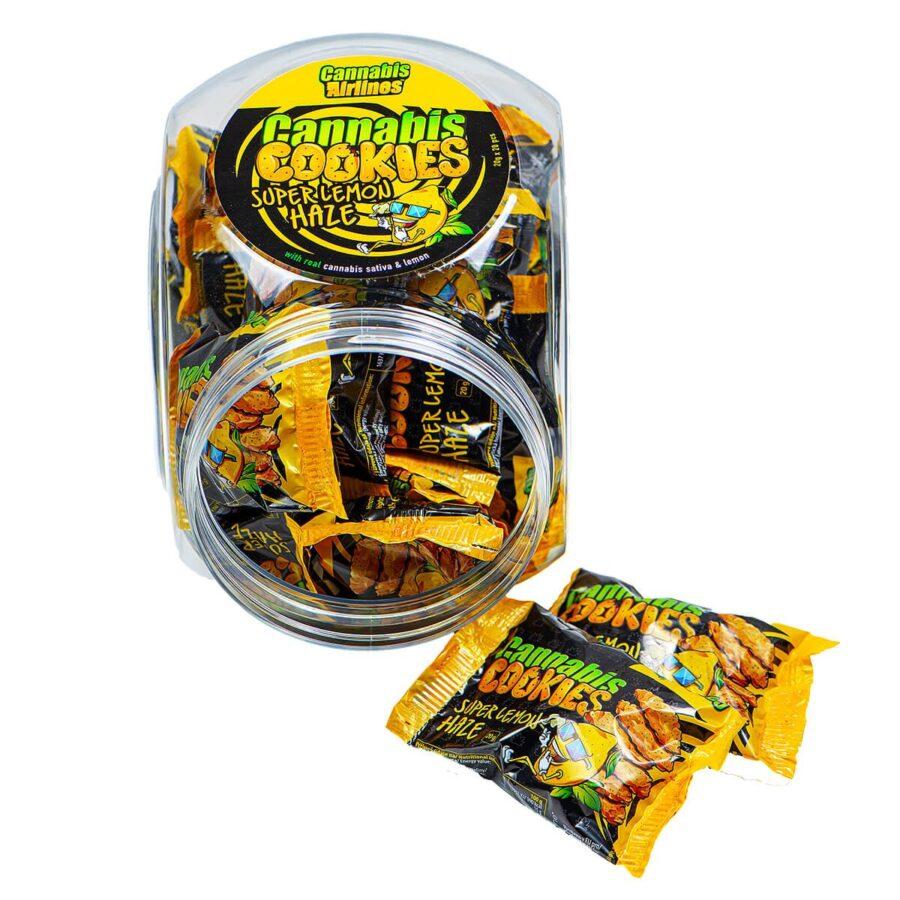 Cannabis Airlines Cannabis Cookies Jar Super Lemon Haze THC Free (400g)