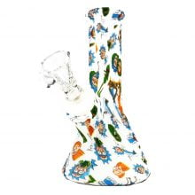 Silicone Bong 4pcs Set Cartoons White 13cm