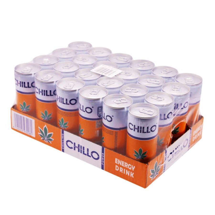 Chillo Cannabis Energy Drink THC Free 250ml (24cans/masterbox)