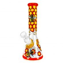 Bee Hive Pro Handcrafted Glass Bong 25cm