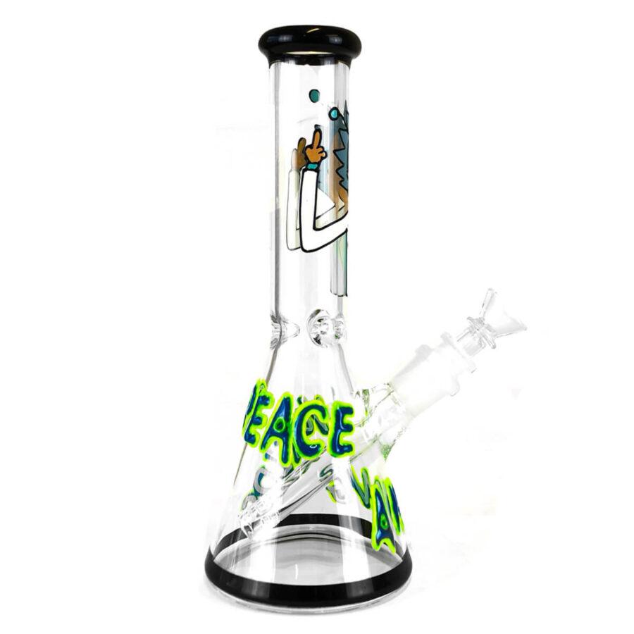 Cartoon Scientist Handcrafted Glass Bong 25cm