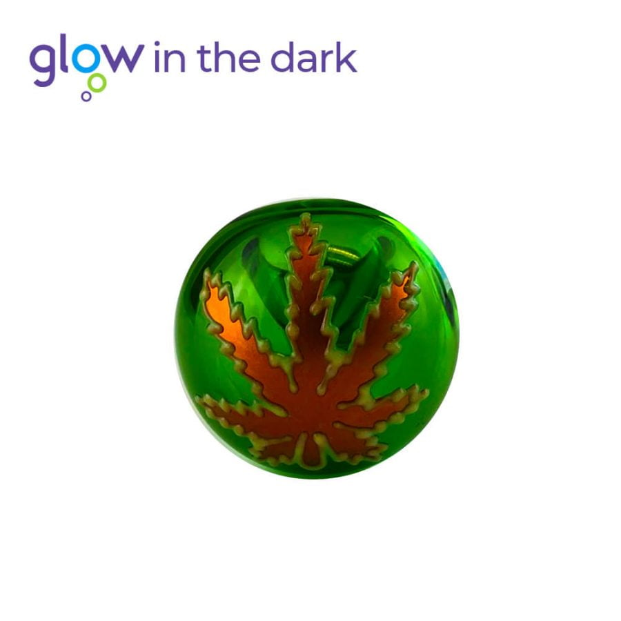 Green Glass Pipe Glow in The Dark 10cm