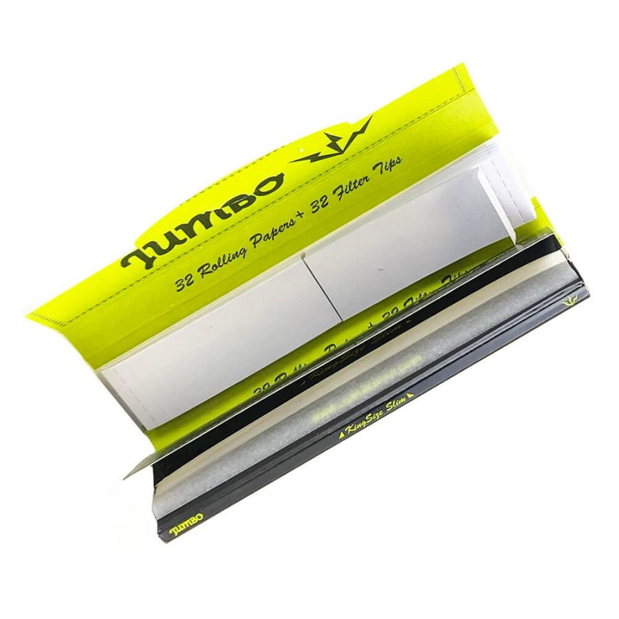 Jumbo King Size Rolling Papers with Tips (24pcs/display)