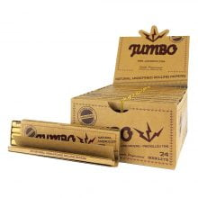 Jumbo Unbleached Rolling Papers with Pre-Rolled Tips (24pcs/display)