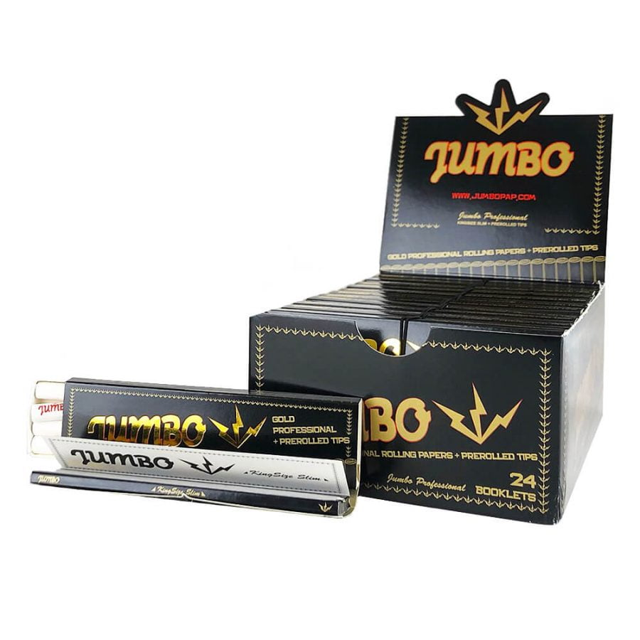 Jumbo King Size Rolling Papers with Pre-Rolled Tips (24pcs/display)