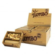 Jumbo 5 Meter Rolls Unbleached with Pre-Rolled Tips (12pcs/display)