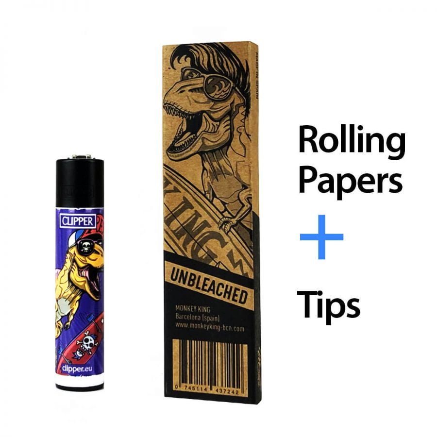 Monkey King Set Clipper with Rolling Papers and Tips (20pcs/display)
