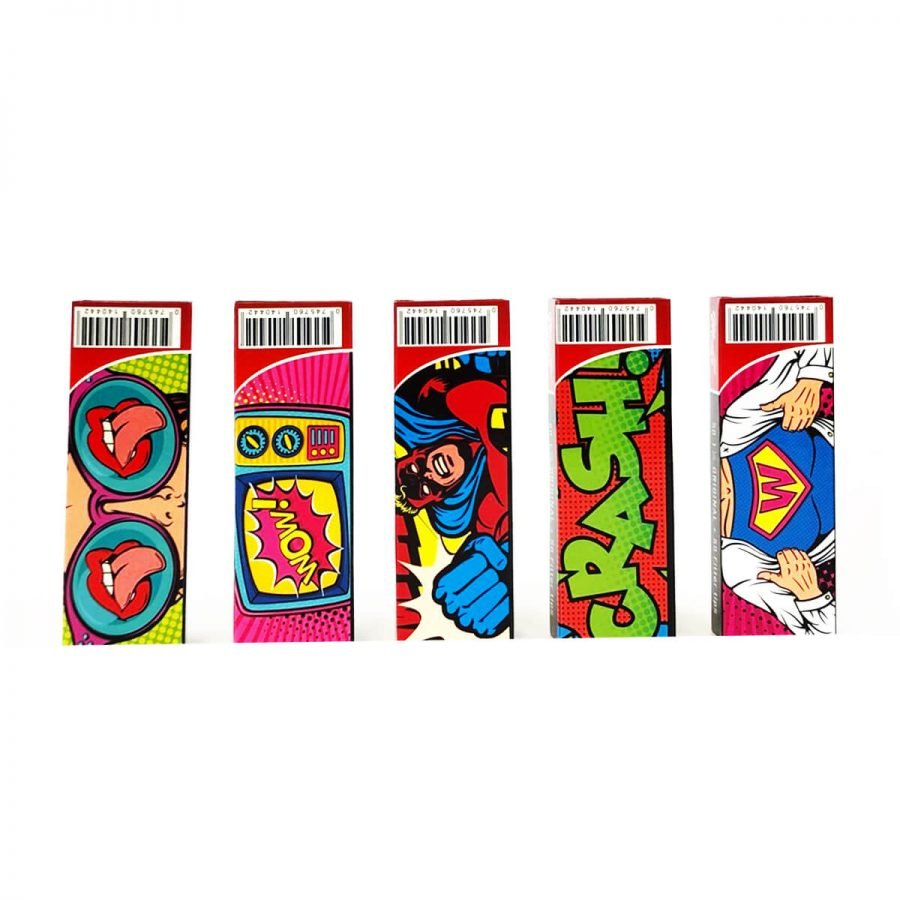 Monkey King 11/4 Pack Small White Rolling Papers (24pcs/display)