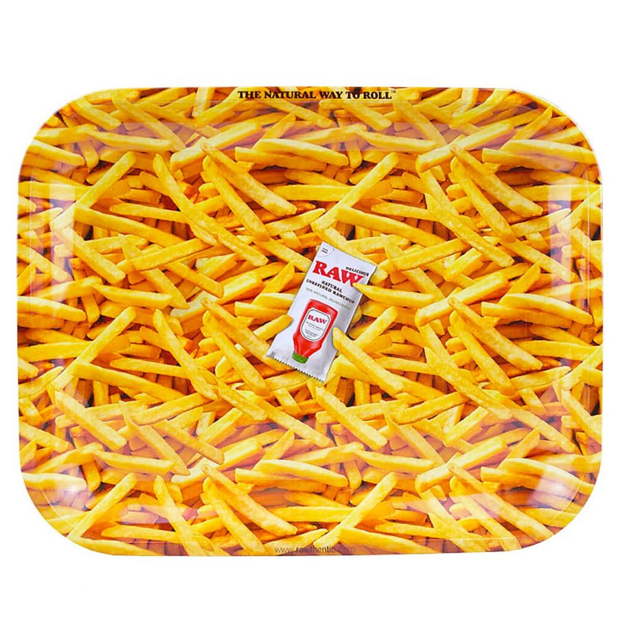 RAW French Fries Large Metal Rolling Tray