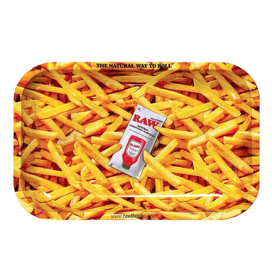 RAW French Fries Medium Metal Rolling Tray