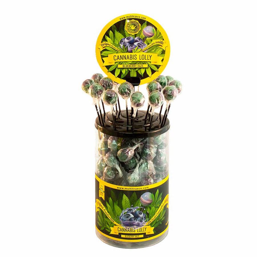Cannabis lollipops Blueberry Haze THC free (100pcs/display)