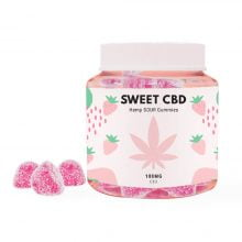 Sweet CBD 100mg Sour Strawberry Gummies (60g)