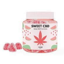Sweet CBD 100mg Sour Watermelon Gummies (60g)