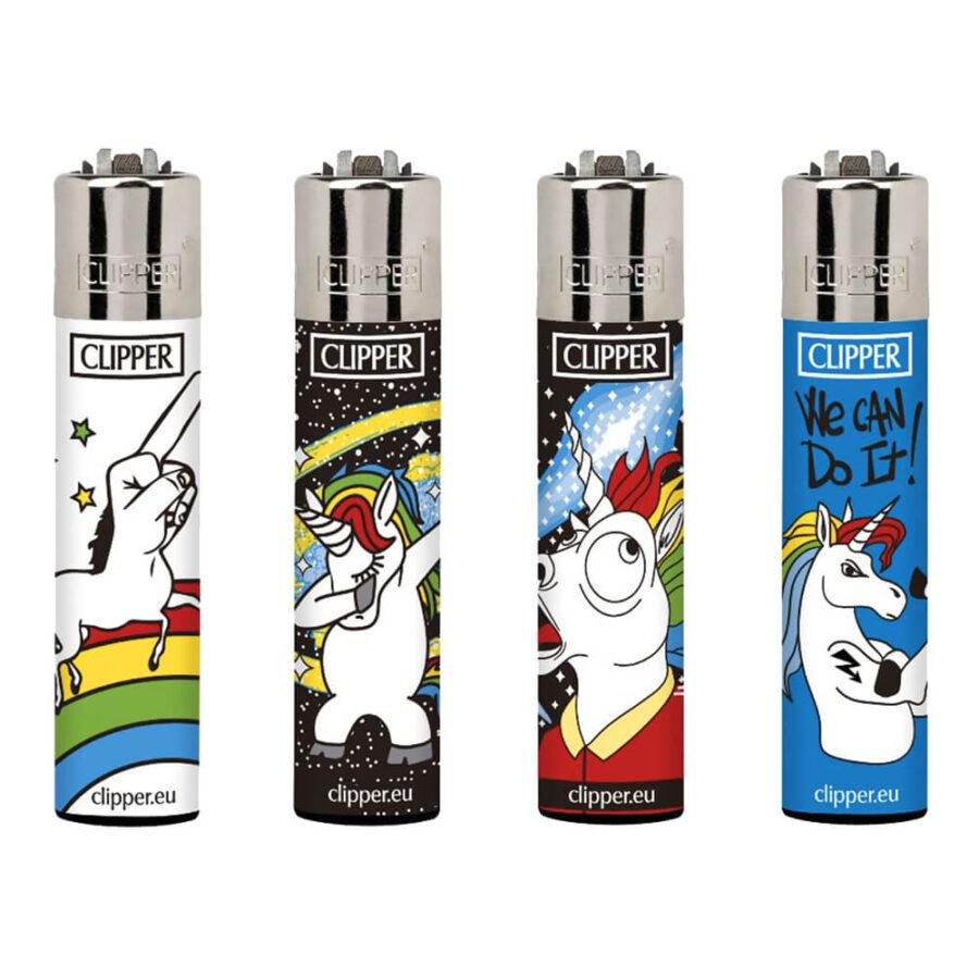 Clipper Lighters Cool Unicorns (24pcs/display)