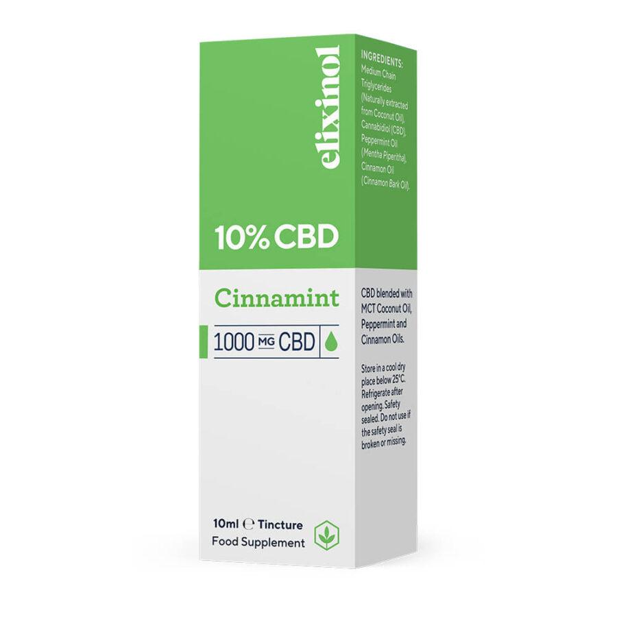 Elixinol Cinnamint CBD Oil 10% (10ml)