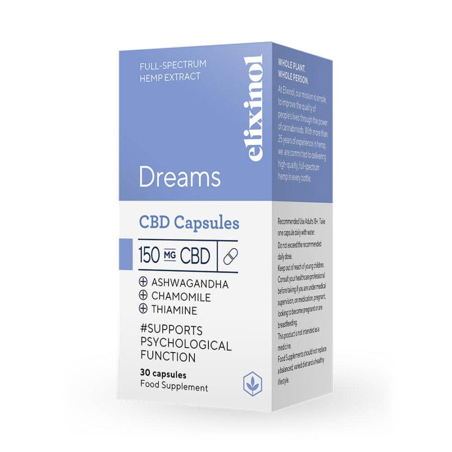 Elixinol Dreams CBD Capsules 150mg (30 capsules)