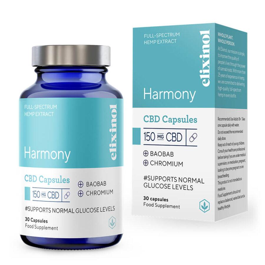 Elixinol Harmony CBD Capsules 150mg (30 capsules)