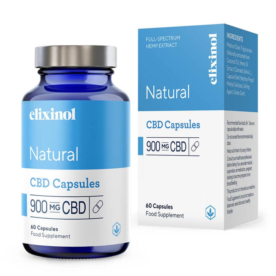 Elixinol Natural CBD Capsules 900mg (60 capsules)