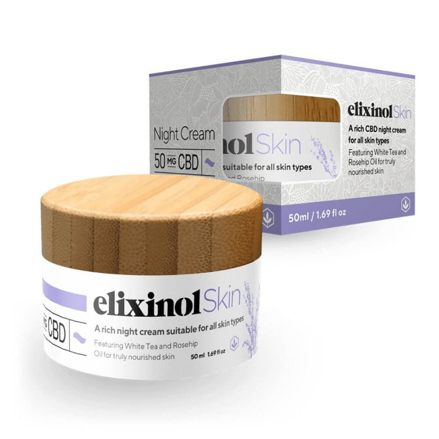 Elixinol Night Cream Moisturiser 50mg (50ml)
