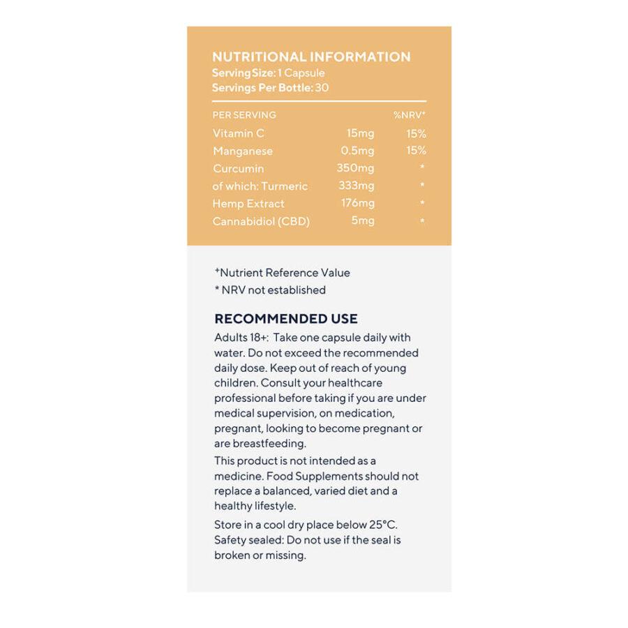 Elixinol Turmeric CBD Capsules 150mg (30 capsules)