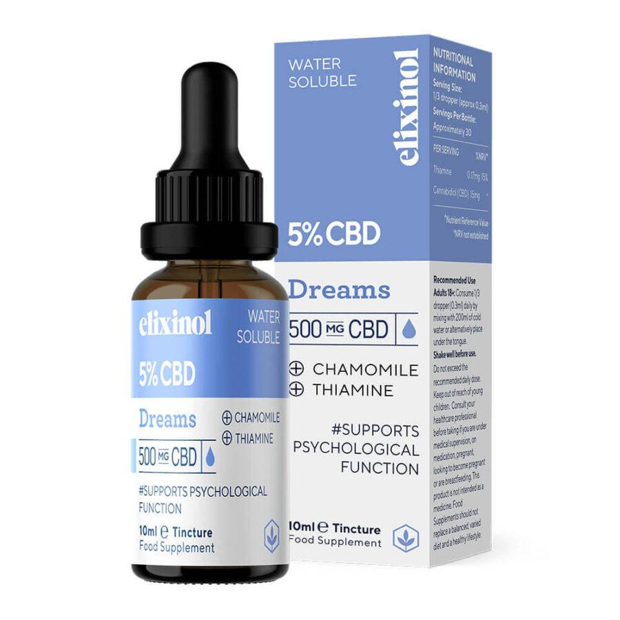 Elixinol Dreams Water Soluble 5% CBD Oil (10ml)