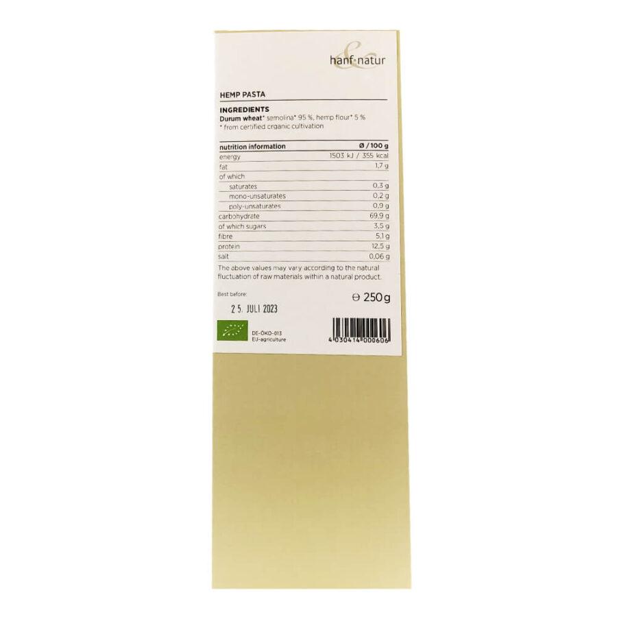 Hanf Natur Bio Hemp Pasta Vegan (250g)