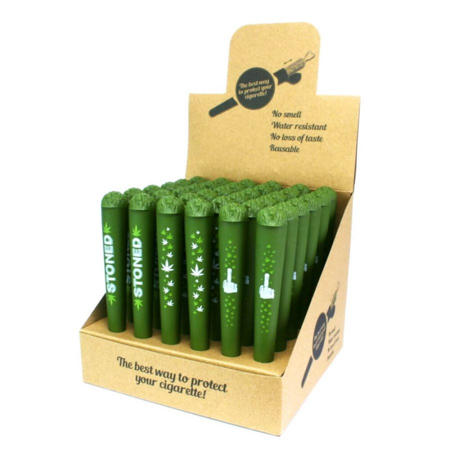 Joint Holders Green Leaves Stoned (36pcs/display)