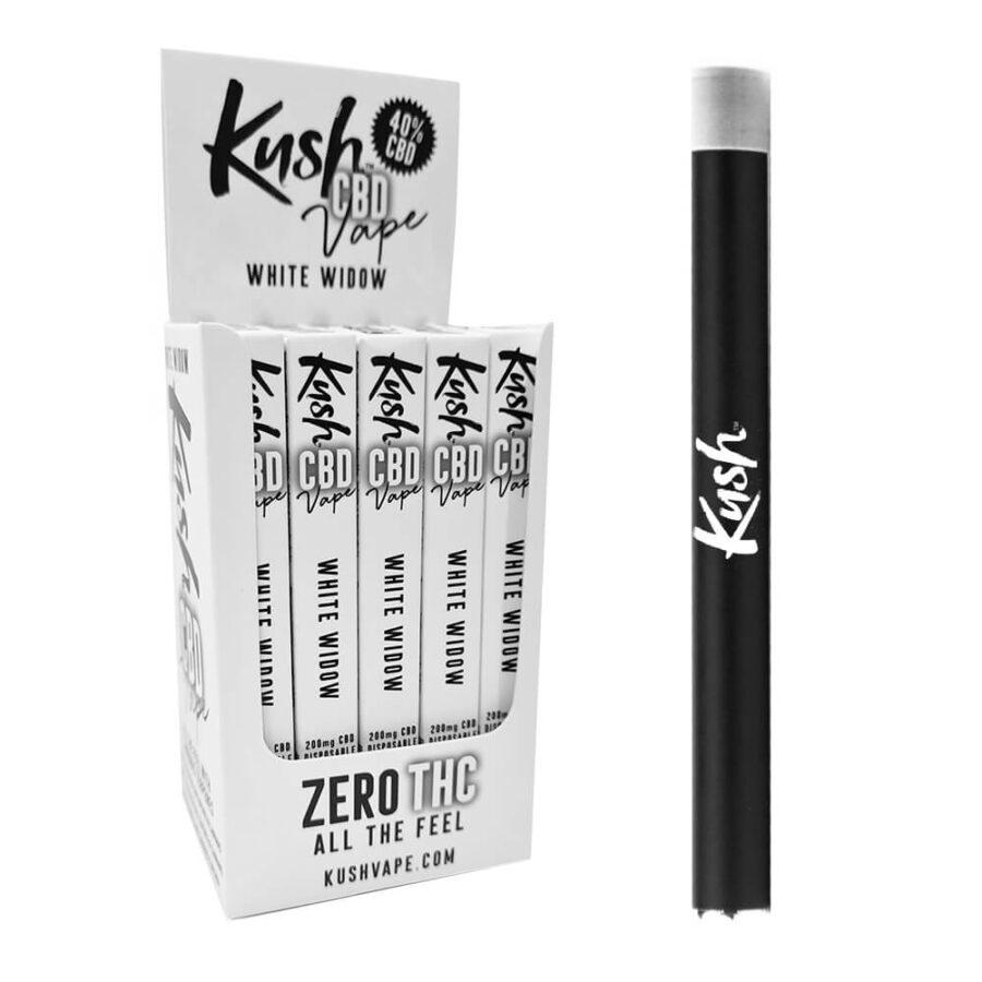 Kush CBD Vape White Widow 40% CBD Disposable Pen (20pcs/display)