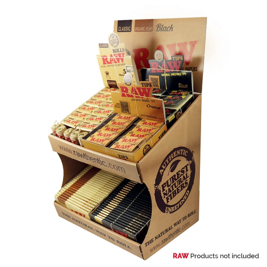 RAW Counter Carton Display Large
