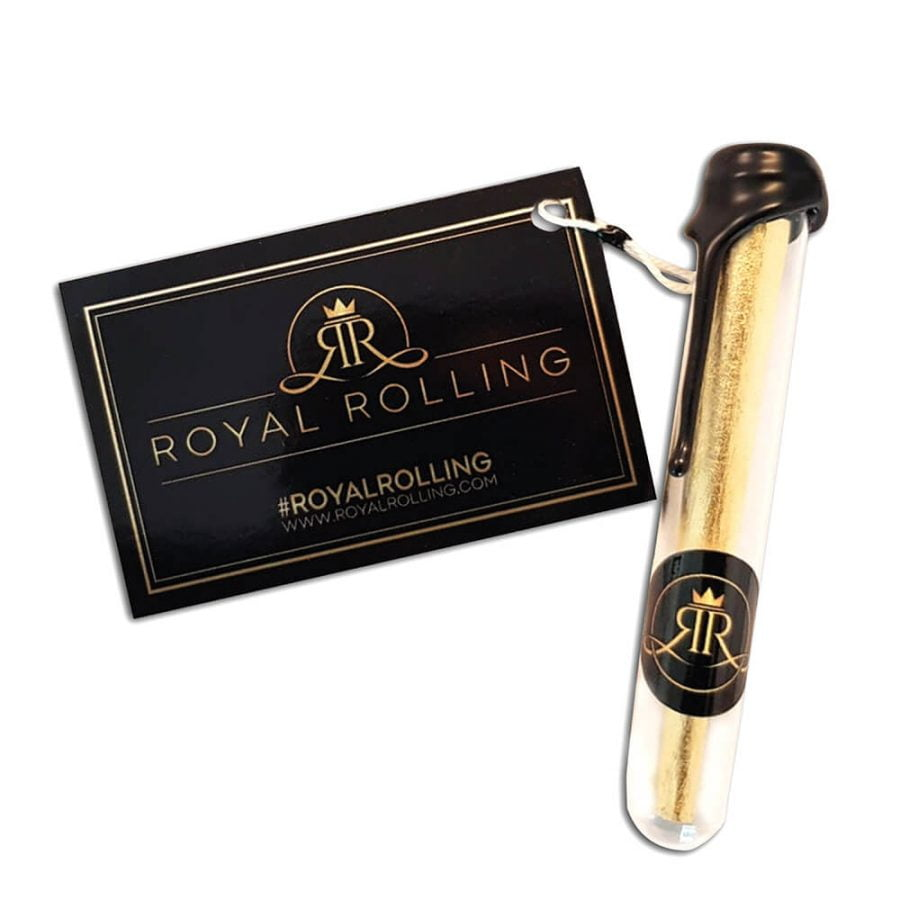 Royal Rolling 24k Gold Handcrafted Rolling Papers + Cones Kit (20pcs/display)