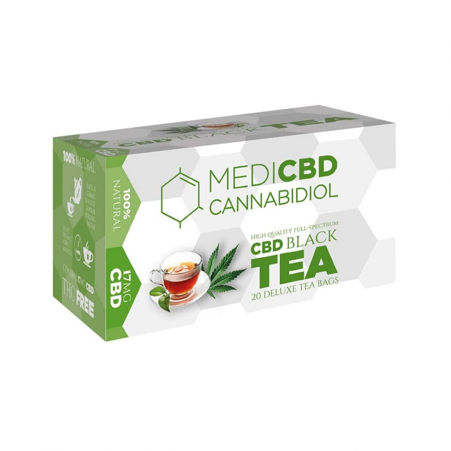 MediCBD Cannabis Black Tea 17mg CBD (10packs/lot)