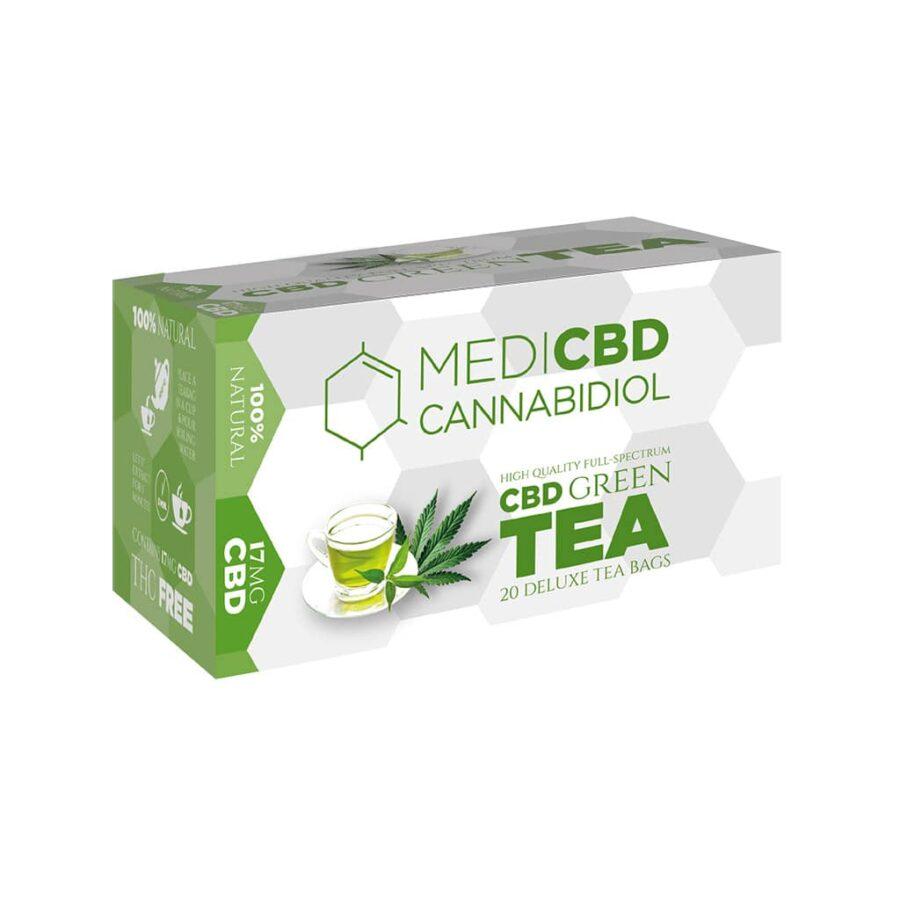 MediCBD Cannabis Green Tea 17mg CBD (10packs/lot)