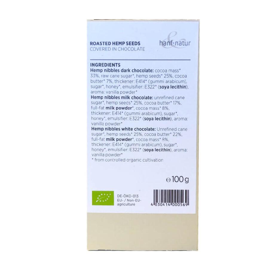 Hanf Natur Hemp Nibbles Chocolate (100g)