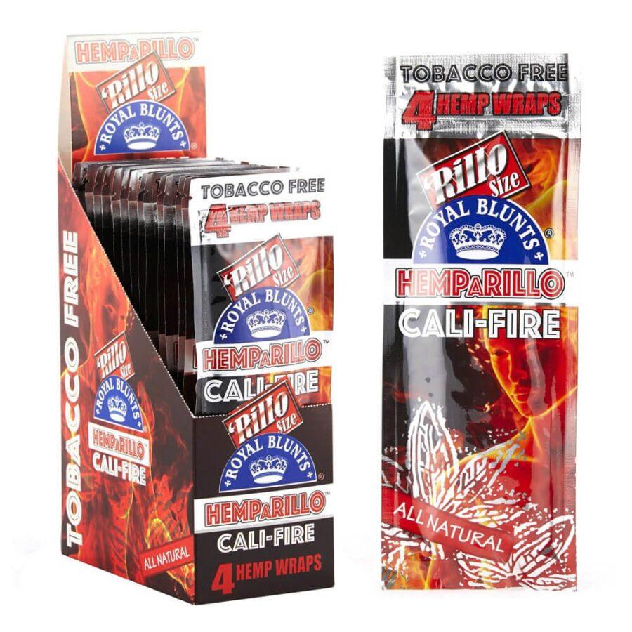 Hemparillo Hemp Wraps Cali Fire x4 Blunts (15packs/display)