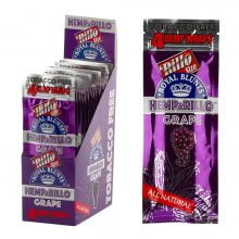 Hemparillo Hemp Wraps Grape x4 Blunts (15packs/display)