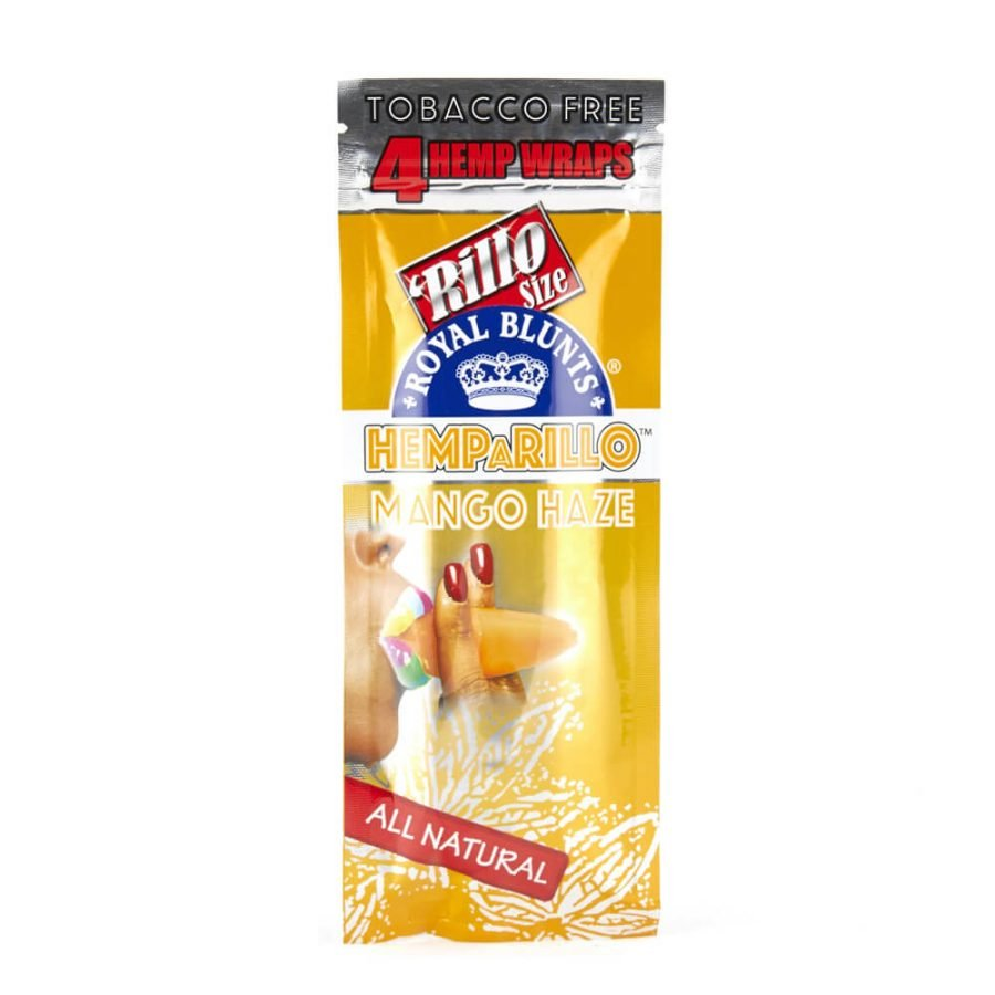 Hemparillo Hemp Wraps Mango Haze x4 Blunts (15packs/display)