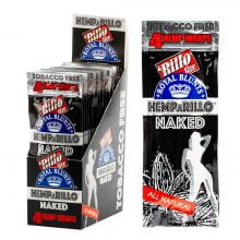 Hemparillo Hemp Wraps Naked x4 Blunts (15packs/display)