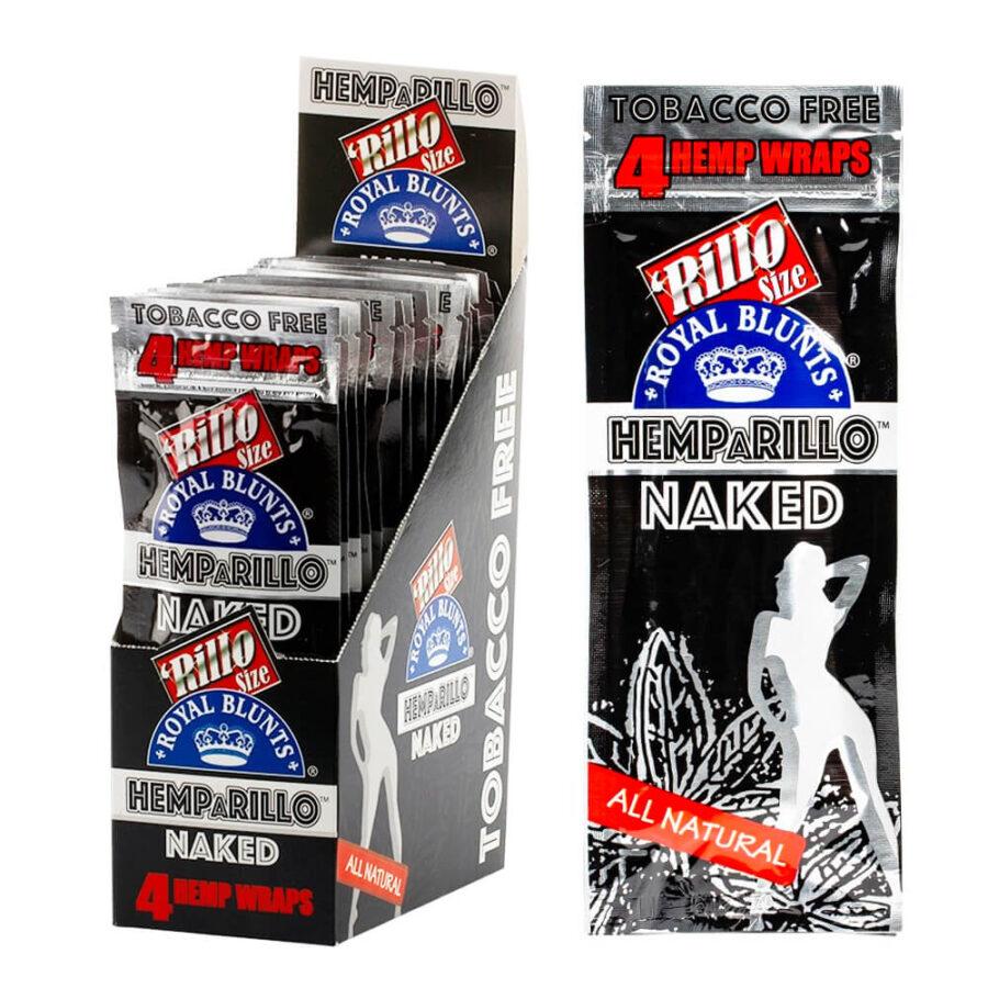 Hemparillo Hemp Wraps Naked x4 Blunts (15packs/display)