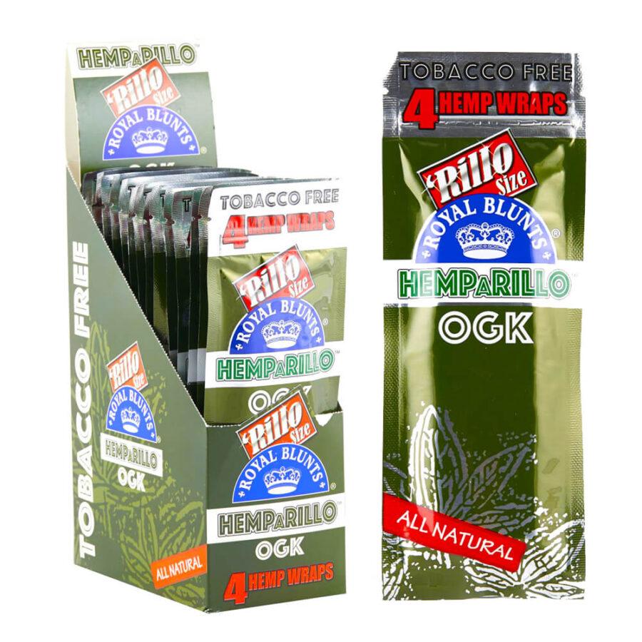 Hemparillo Hemp Wraps OGK x4 Blunts (15packs/display)
