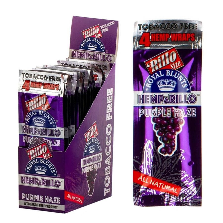 Hemparillo Hemp Wraps Purple Haze x4 Blunts (15packs/display)