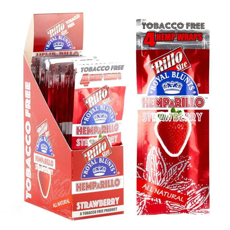 Hemparillo Hemp Wraps Strawberry x4 Blunts (15packs/display)