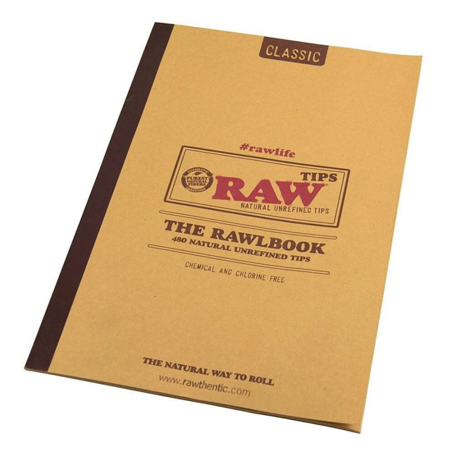 RAW Rawlbook 420 Natural Unrefined Tips in a Book