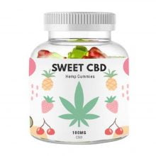Sweet CBD 100mg Cherry, Kiwi, Pineapple, Strawberry Gummies (60g)
