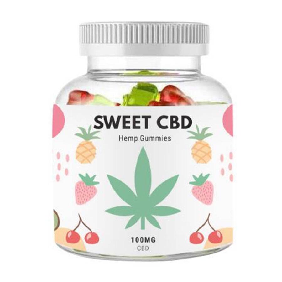 Sweet CBD 100mg Cherry, Kiwi, Pineapple, Strawberry Gummies (60g)