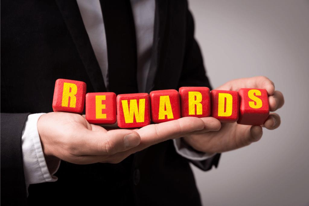 Rewards cubes in hand