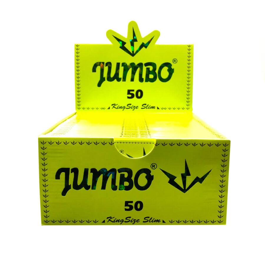 Jumbo King Size Slim Green Rolling Papers (50pcs/display)